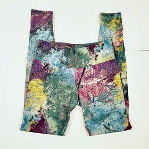 Onzie Multicolor Abstract Active Pants